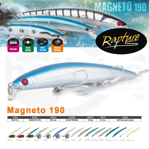 Τεχνητά Ψαράκια Magneto 190 Rapture