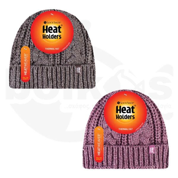 Σκούφος Γυναικείος Με Γύρισμα Heat Holders