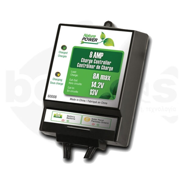 Ηλιακός Ρυθμιστής Φόρτισης 8Amp Nature Power