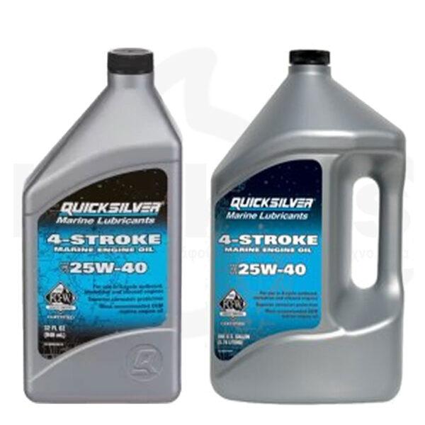 Λάδι Mineral 4T SAE 25W-40 QUICKSILVER