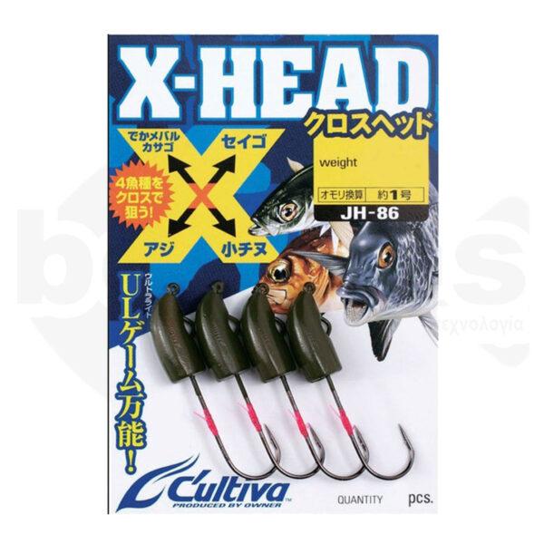 Μολυβοκεφαλές JH-86 X-HEAD Cultiva